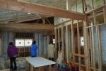 施工中、2階、だんだんオープンになる
